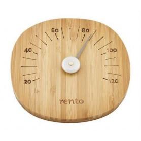 Termo och hygrometer   Rento Bastutermometer,mörk bambu