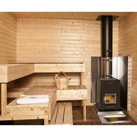 Tillbehör ved eldat bastuaggregat   Väggskyddsplåt kota rostfritt stål 750x1150