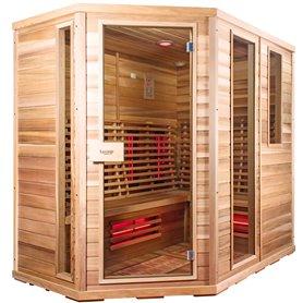 Sauna Relax Lux Vänster av cederträ